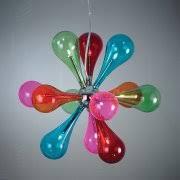 childrens ceiling lighting. Niven 9multi 9 Light Ceiling Ing With Multi Coloured Glass Childrens Lighting E