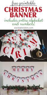 6 Free Printable Christmas Signs Merry Christmas Banner