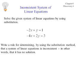 solve the given system of linear equations by using substitution