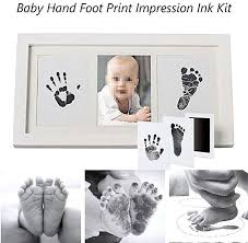 images gallery universal diy baby hand foot ink pad imprint print ink kit photo frame footprint