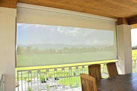 outdoor privacy shades. Outdoor Rollup Shades Privacy Transparent Rectangle Modern Fabric Roll Up Stained Design Motorized O