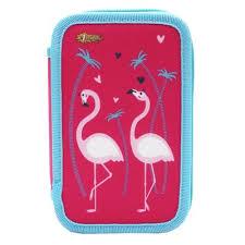 <b>Пенал</b> двухсекционный №1 School <b>Flamingo</b> розовый в ...