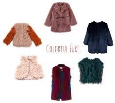 colorful kids fake fur coats