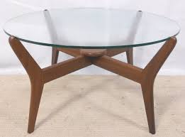 round glass top 1960 s retro coffee table sold