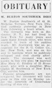 Wesley Burton Southwick obituary - Newspapers.com