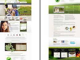 Green Layouts Green Leaf Website Layout Design By Rajendra Singh On Dribbble