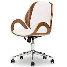contemporary office chairs modern. Simple Chairs Baxton Studio Didier Modern U0026 Contemporary Office Chair WalnutWhite With Chairs W
