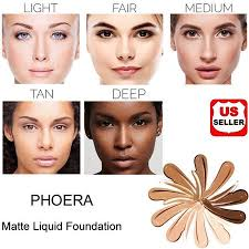 Phoera Foundation Professional Makeup Full Coverage Fast
