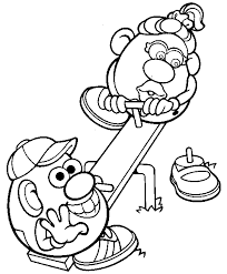 mr and mrs potato head coloring pages.  Potato Mr And Mrs Potato Head Coloring Page In And Coloring Pages D