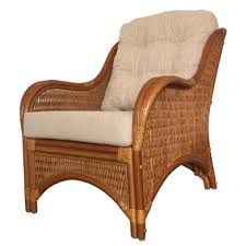 Brown Armchair Rattan Lounge Armchair Karmen Color Light Brown With Cushions