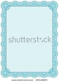 printable frame templates blank printable certificate frame template stock illustration