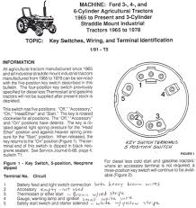 wiring diagram ford tractor the wiring diagram 4610 ignition switch wiring yesterday s tractors wiring diagram