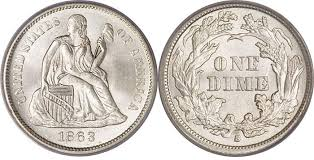 Dime Value Chart Most Valuable Seated Liberty Silver Dime 1837 91 Us Coin Values