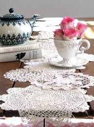 doilies table runners table runners from woodsy to formal roundup doily table runner