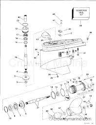 Omc Stern Drive Propeller Chart Lower Gearcase Single Prop 1996 Omc Stern Drive 5 7