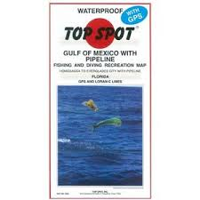 Top Spot Fishing Chart Gulf Of Mexico W Pipeline