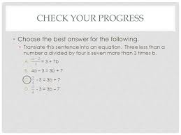 check your progress choose the best answer for the following