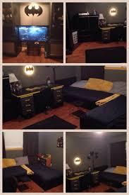 Batman Room Design Second Living Area Converted Into Boys Batcave Bedroom