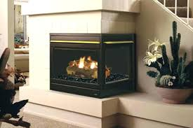 2 sided fireplace insert two corner gas propane
