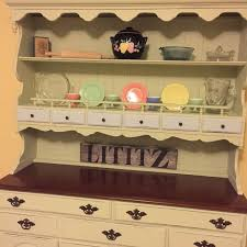 painted vintage furniturePainted Vintage Ethan Allen Hutch  Hometalk