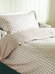 beige gingham cot bed duvet cover sweetgalas