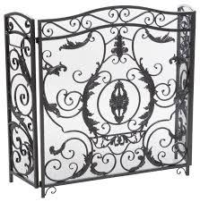black iron fireplace screen. mariella floral iron fireplace screen, silver victorian-fireplace-screens black screen i