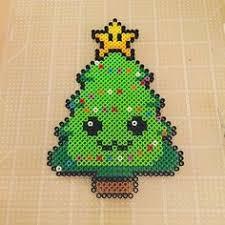 Items Similar To Super Mario Bros Princess Peach Perler Bead Perler Beads Christmas Tree