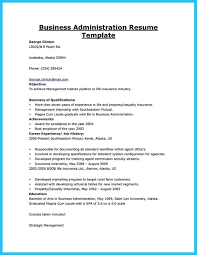 Sample Resume Business Administration Resume Sample For Fresh Graduate Business Administration 20