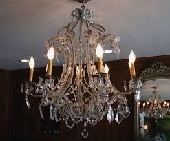 image of antique crystal chandeliers design