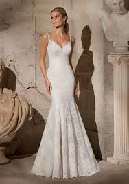 elegant alencon lace with crystal beaded straps morilee bridal