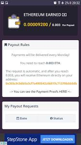 my proofs app earn free ethereum every 5 minutes via an app steemit