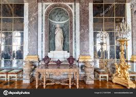 Versailles Frankreich März 2018 Kronleuchter Und Spiegel Den