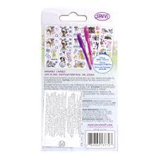 набор тату для девочек с гелевой ручкой фиолетовый