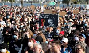 Sydney protest today live stream. Australia Protests Thousands Take Part In Black Lives Matter And Pro Refugee Events Amid Covid 19 Warnings Black Lives Matter Movement The Guardian