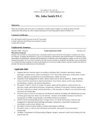 New Physician Assistant Cv Resumes and Cover Letters cover letter sample  for job