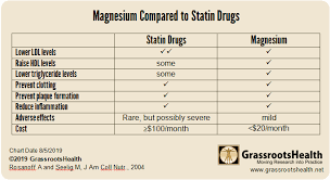 Hdl Level Chart Comparing Magnesium Supplementation With Statin Drugs