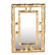 gold bamboo mirror. Gold Bamboo Mirror