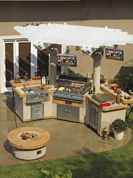 Outdoor Kitchen Gas Grill Optimizing An Outdoor Kitchen Layout Hgtv