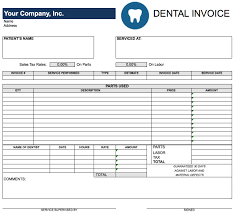 Customer Invoice Template Excel Free Dental Invoice Template Excel PDF Word Doc 20