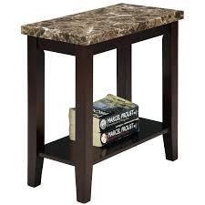 faux marble accent table threshold copper with top
