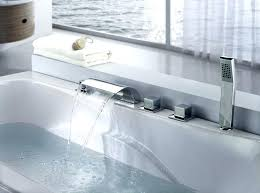 chrome waterfall faucet bathtub waterfall faucets triple handle deck mount waterfall tub faucet with of bathtub chrome waterfall faucet