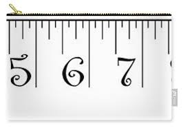 2 X 12 Foot Ruler Note Print Size May Vary Carry All Pouch