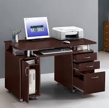 com techni mobili complete workstation computer desk with storage chocolate kitchen dining