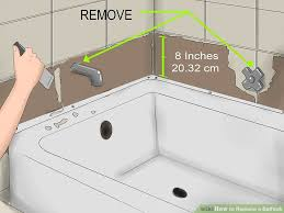 how to replace a bathtub 11 steps with pictures wikihow cozy ideas