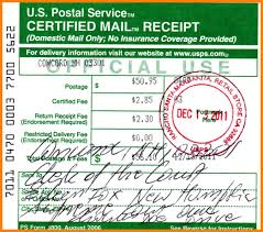 8 Certified Mail Receipt Fillin Resume