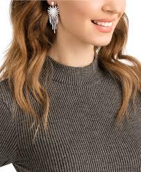 Kristall Kronleuchter Ohrringe Silber Ton Swarovski
