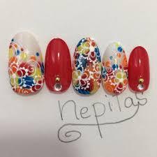 春夏リゾート浴衣ハンド Nepitasのネイルデザインno3478040