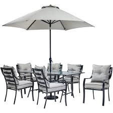 Outdoor Dining Set With Umbrella Hole Patio Table No And Home Depot
