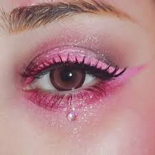 la luna es blanca la noche es negra make up look makeup eye and kawaii makeup