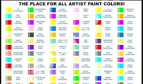 Folk Art Paint Chart Multi Surface Acrylic Paint Set Piece Bright Colors Folkart